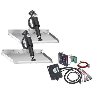 Lenco 12 x 12 Edgemount Trim Tab Kit w LED Indicator Switch Kit 12V