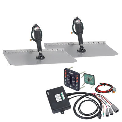 Lenco 12 x 18 Standard Trim Tab Kit w LED Indicator Switch Kit 12V