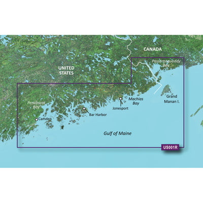 Garmin BlueChart reg g2 Vision reg HD - VUS001R - North Maine - microSD 153 SD 153