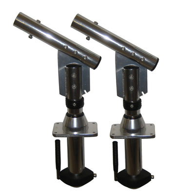 Lee's Sidewinder Bolt-In Outrigger Mounts, Lay-Down Version - Silver(Pair)