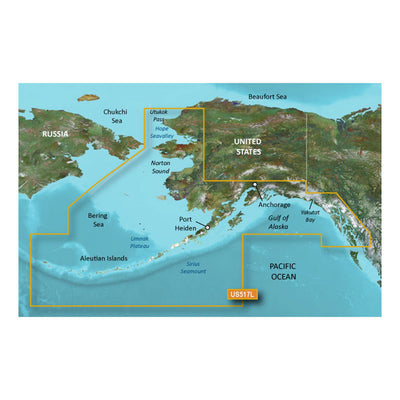 Garmin BlueChart reg g2 Vision reg HD - VUS517L - Alaska South - microSD trade SD trade