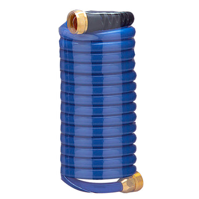 HoseCoil 15' Blue Self Coiling Hose w Flex Relief