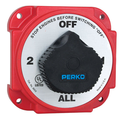 Perko Heavy Duty Battery Selector Switch w Alternator Field Disconnect