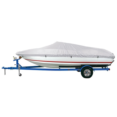 Dallas Manufacturing Co. Reflective Polyester Boat Cover A - Fits 14'-16' V-Hull Fishing Boats - Beam Width to 68