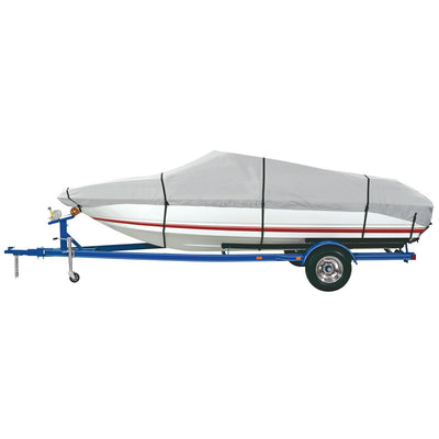 Dallas Manufacturing Co. Heavy Duty Polyester Boat Cover C - 16'-18.5' Fish, SKI Pro-Style Bass Boats- Beam Wth to 94