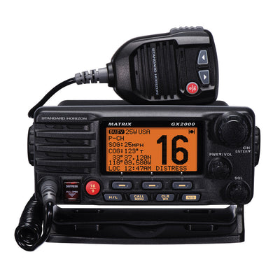Standard Horizon Matrix GX2000 VHF w Optional AIS Input 30W PA
