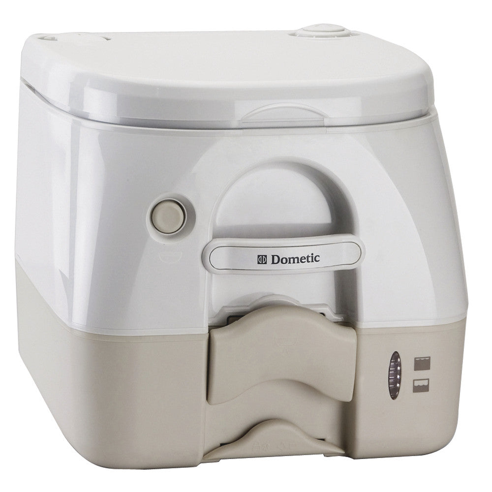 Dometic - 974MSD Portable Toilet 2.6 Gallon - Tan w Brackets