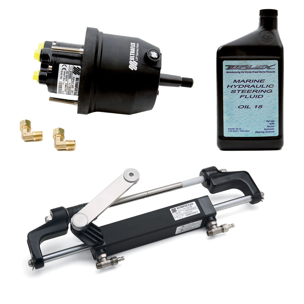 UFlex Hyco 1.0 Front Mt. Outboard Steering System f Up To 150HP w UP20 F Helm, UC94OBF, 1 Cylinder Oil