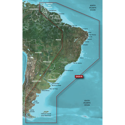 Garmin BlueChart reg g2 Vision reg HD - VSA001R - South America East Coast - microSD trade SD trade