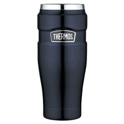 Thermos Stainless King trade Vacuum Insulated Travel Tumbler - 16 oz. - Stainless Steel Midnight Blue