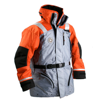 First Watch AC-1100 Flotation Coat - Orange/Grey - Large