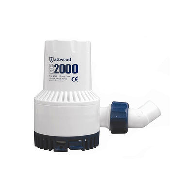 Attwood Heavy-Duty Bilge Pump 2000 Series - 12V - 2000 GPH