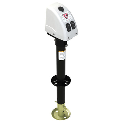 Bulldog 3,500lbs A-Frame RV Jack w Powered Drive - 12V - White Cover
