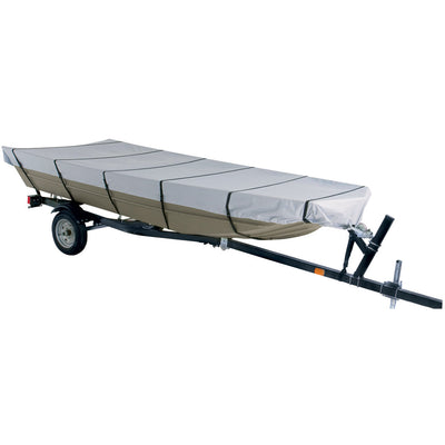 Dallas Manufacturing Co. 300D Jon Boat Cover - Model C - Fits 16' w Beam Width to 75