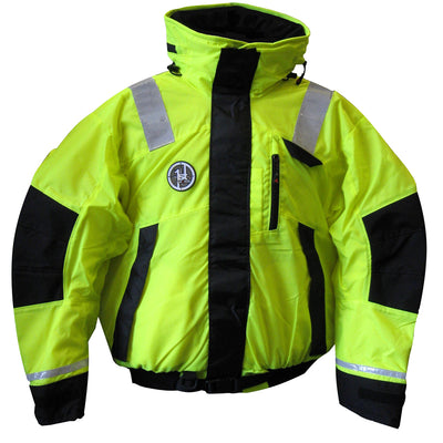First Watch Hi-Vis Flotation Bomber Jacket - Hi-Vis Yellow/Black - XX-Large