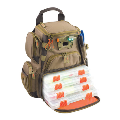 Wild River RECON Lighted Compact Tackle Backpack w 4 PT3500 Trays