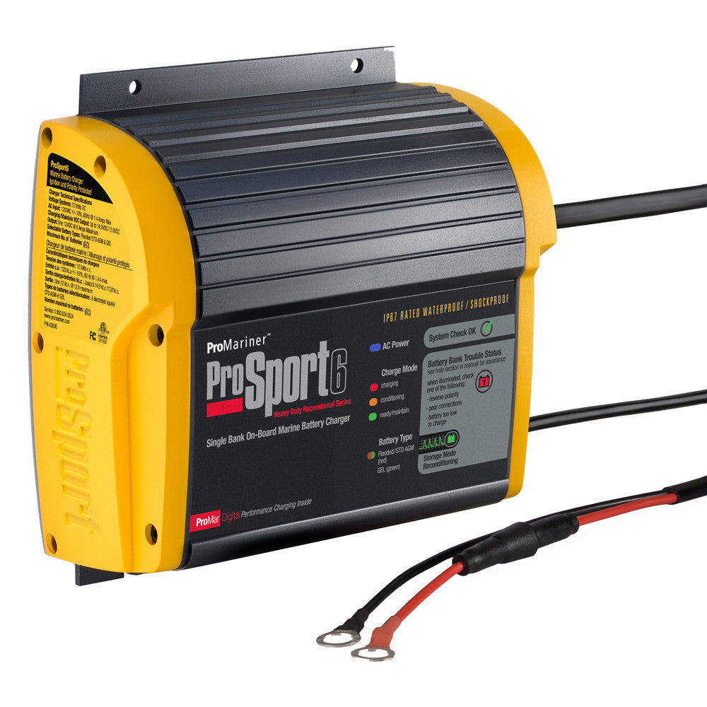 ProMariner ProSport 6 Gen 3 Heavy Duty Recreational Series On-Board Marine Battery Charger - 6 Amp - 1 Bank