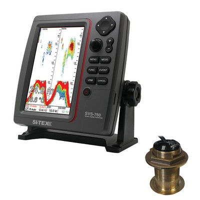 SI-TEX SVS-760 Dual Frequency Sounder 600W Kit w/Bronze 20 Degree Transducer