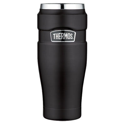 Thermos Stainless King trade Vacuum Insulated Travel Tumbler - 16 oz. - Stainless Steel Matte Black