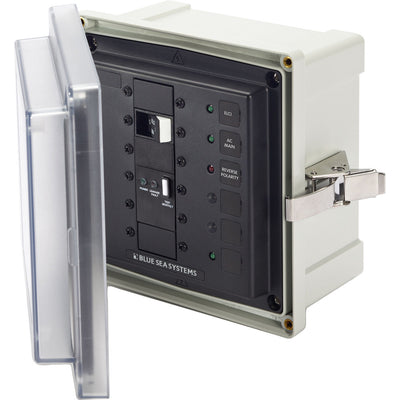 Blue Sea SMS Surface Mount System Panel Enclosure - 120 240V AC 50A ELCI Main - 1 Blank Circuit Position