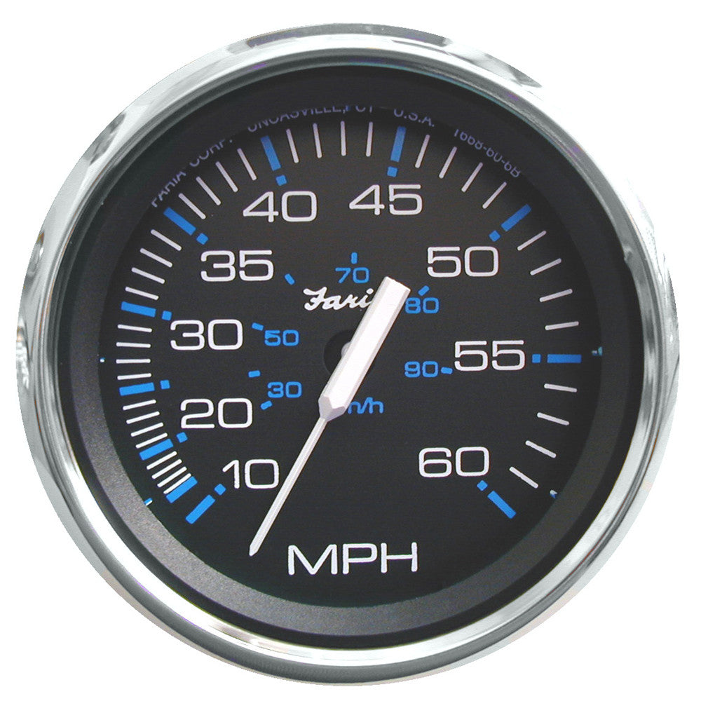 Faria Chesapeake Black SS 4 Speedometer - 60MPH (Mechanical)