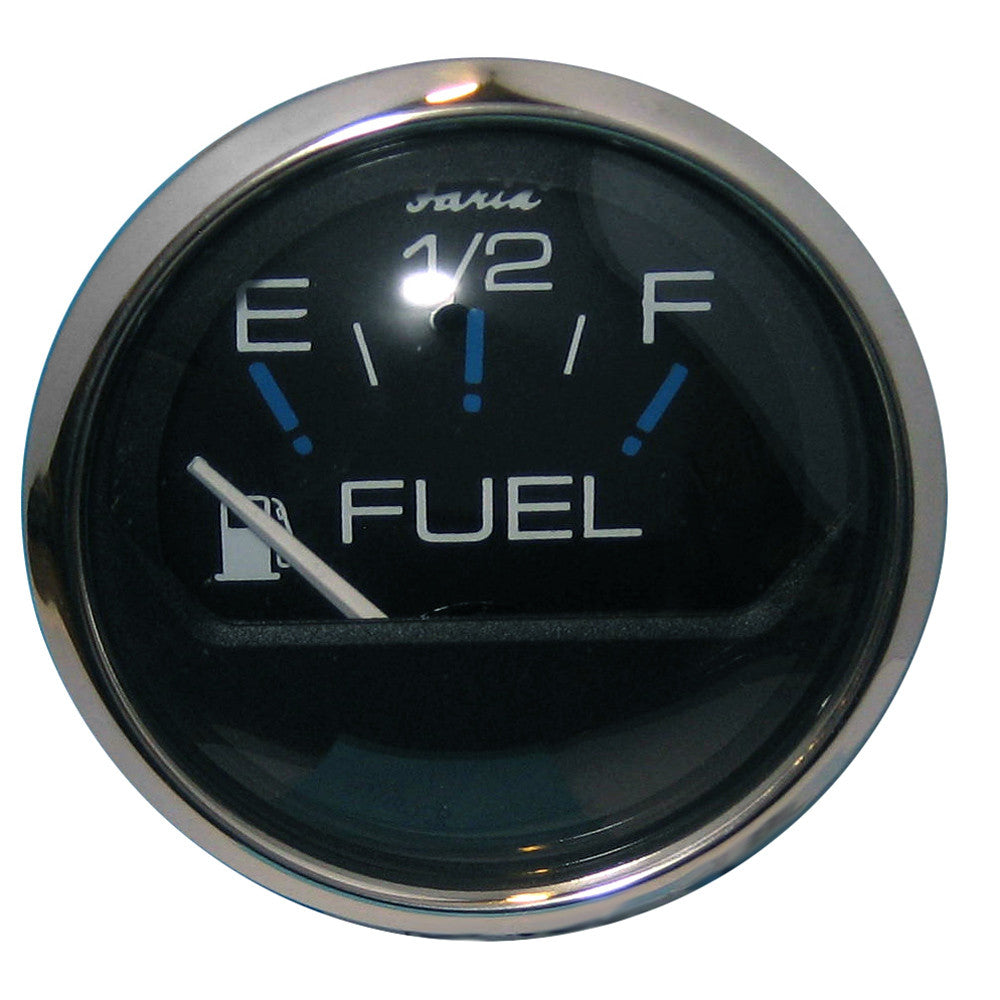 Faria Chesapeake Black SS 2 Fuel Level Gauge (E-1 2-F)