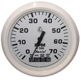 Faria Dress White 4 Tachometer w Systemcheck Indicator - 7,000 RPM (Gas - Johnson Evinrude Outboard)