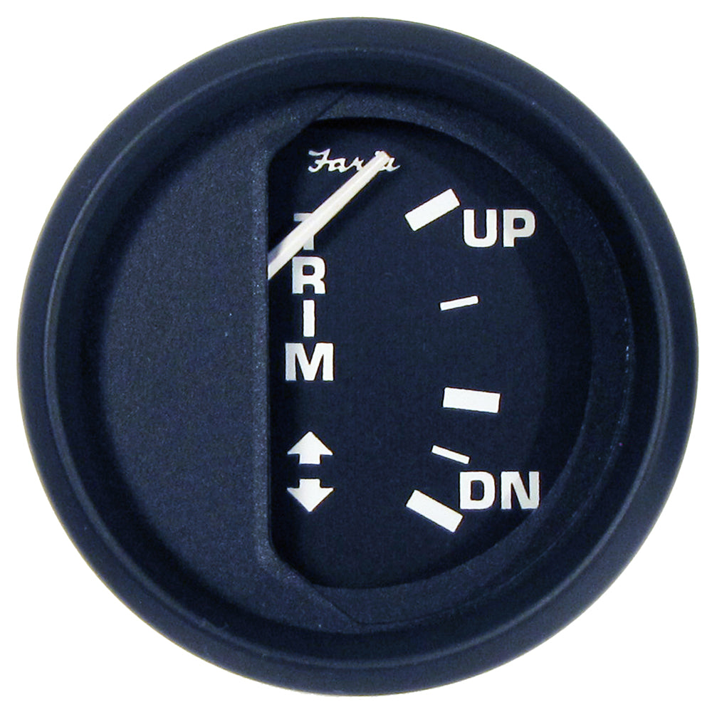 "Faria Euro Black 2"" Trim Gauge (Mercury / Mariner / Mercruiser / Volvo DP / Yamaha-2001 and newer)"