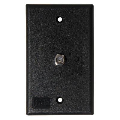 KING Jack PB1001 TV Antenna Power Injector Switch Plate - Black