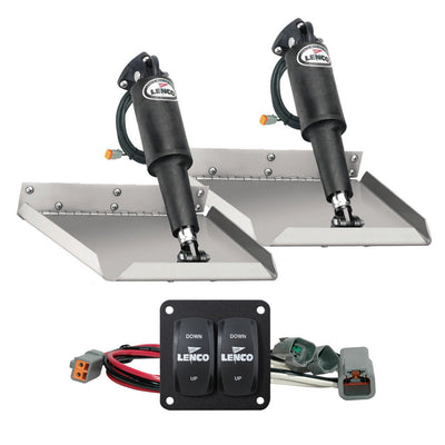 Lenco 12 x 12 Edge Mount Trim Tab Kit w Double Rocker Switch Kit