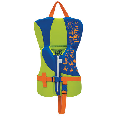 Full Throttle Rapid-Dry Life Vest - Infant Less Than 30lbs - Blue Lime Green