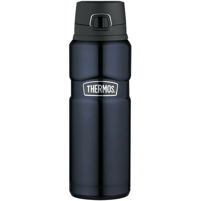 Thermos Stainless King trade Stainless Steel, Vacuum Insulated Drink Bottle - Midnight Blue - 24 oz.
