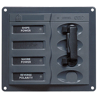 BEP AC Circuit Breaker Panel without Meters, Double Pole Change Over Panel