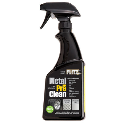 Flitz Metal Pre-Clean - All Metals Icluding Stainless Steel - 16oz Spray Bottle
