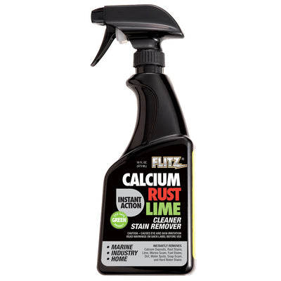 Flitz Instant Calcium, Rust Lime Remover - 16oz Spray Bottle