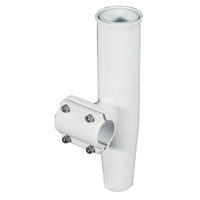 Lee's Clamp-On Rod Holder - White Aluminum - Horizontal Mount - Fits 1.050