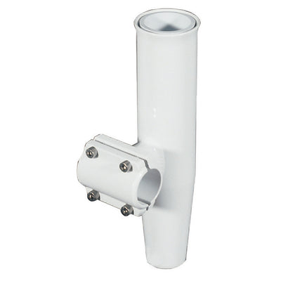 Lee's Clamp-On Rod Holder - White Aluminum - Horizontal Mount - Fits 1.660 O.D. Pipe