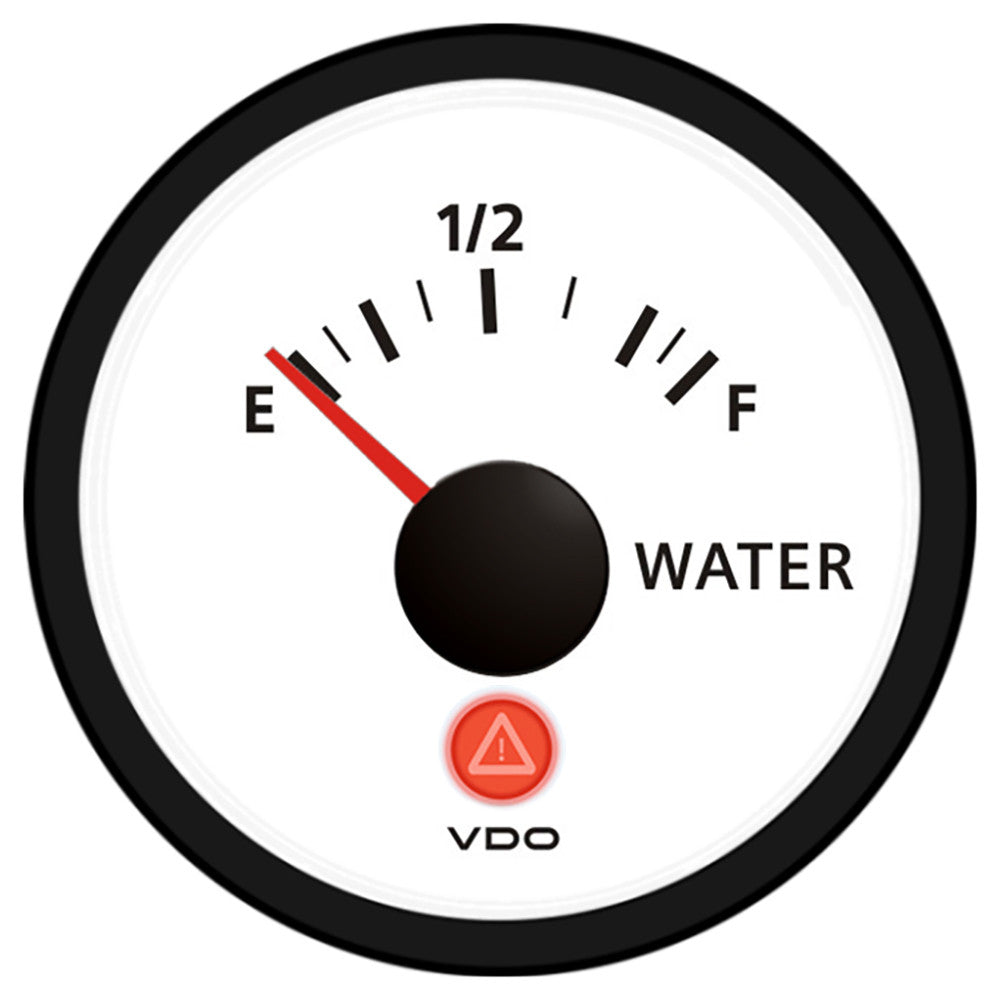 VDO Viewline Ivory Freshwater Gauge 12 24V - Use with VDO 10-180 Ohm Sender