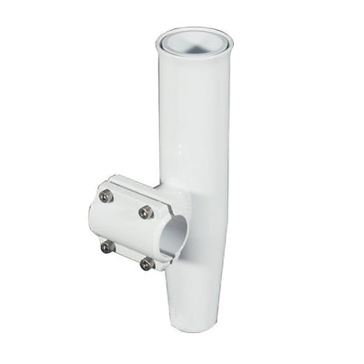 Lee's Clamp-On Rod Holder - White Aluminum - Horizontal Mount - Fits 1.900