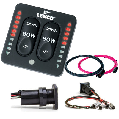 Lenco LED Indicator Integrated Tactile Switch Kit w Pigtail f Dual Actuator Systems
