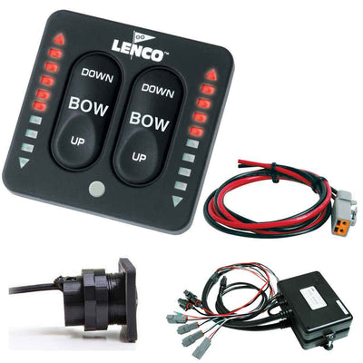 Lenco LED Indicator Two-Piece Tactile Switch Kit w Pigtail f Dual Actuator Systems