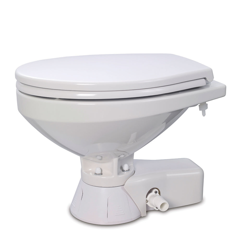 Jabsco Quiet Flush Raw Water Toilet - Regular Bowl w/Soft Close Lid - 12V