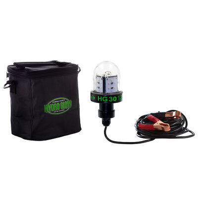 Hydro Glow HG30 30W 12V Deep Water LED Fish Light - Green Globe Style