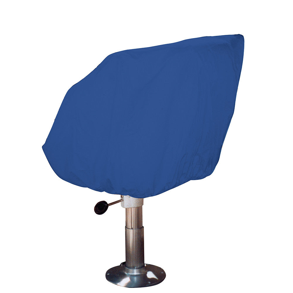 Taylor Made Helm Bucket Fixed Back Boat Seat Cover - Rip Stop Polyester Navy