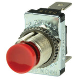 BEP Red SPST Momentary Contact Switch - OFF/(ON)