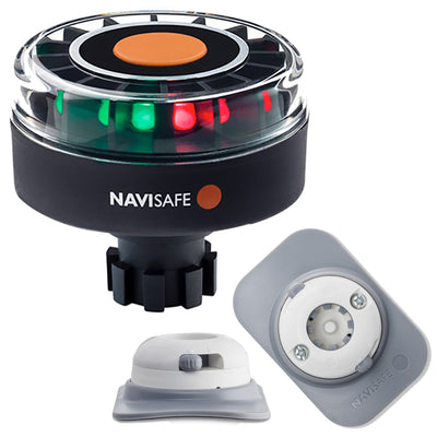 Navisafe Navilight Tricolor 2NM w/Navibolt Base  amp RIB Mount - White