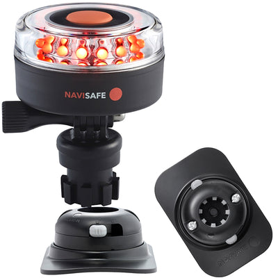 Navisafe Navilight All RED 360 deg 2NM w/Navimount Base  amp RIB Mount - Black