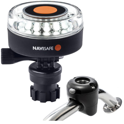 Navisafe Navilight 360 deg 2NM White w/Navimount Base  amp Rail Mount - Black