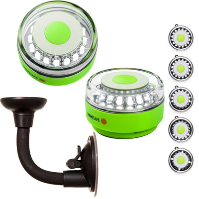 Navisafe Portable Navilight 360 deg 2NM Rescue - Glow In The Dark - Green w/Bendable Suction Cup Mount