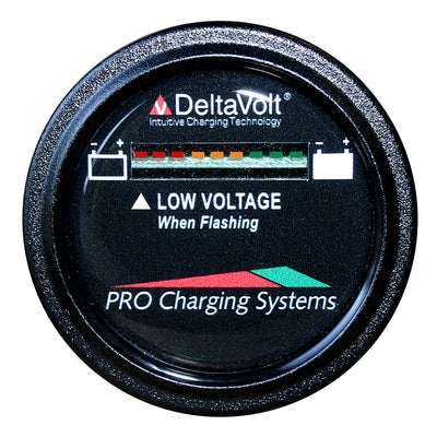 Dual Pro Battery Fuel Gauge - DeltaView Link Compatible - 72V System (6-12V Batteries, 12-6V Batteries, 9-8V Batteries)